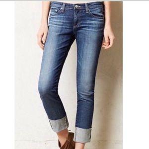 AG Adriano Goldschmied The Stevie Cuff Cropped Jeans, 30